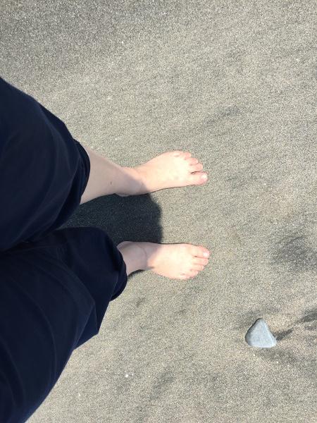鎌倉の海辺で